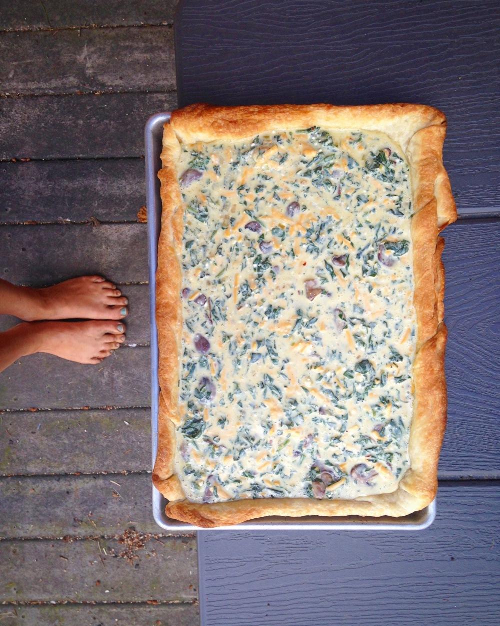 "June Frenzy + RECIPE: Mushroom & ""Lots of Greens"" Sheet Pan Quiche ..."