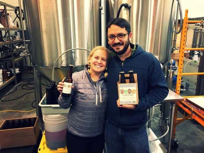 Marie+and+Matt+with+the+first+batch+of+Brix+Cider