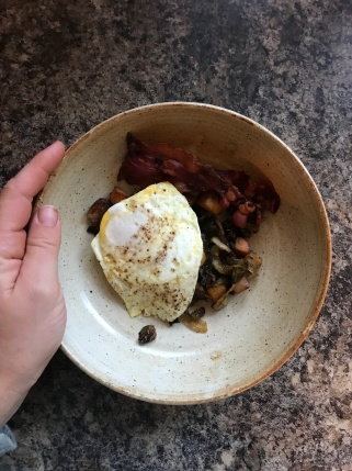 BA Celeriac & Sweet Potato Hash with Egg and Bacon